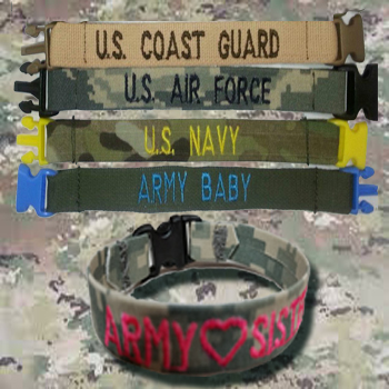 Camo Bracelets From Name Tape Factory in Wisconsin, Veteran Owned