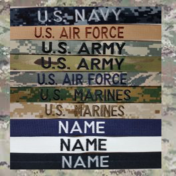 1 inch Name Tapes with Hook Fastener