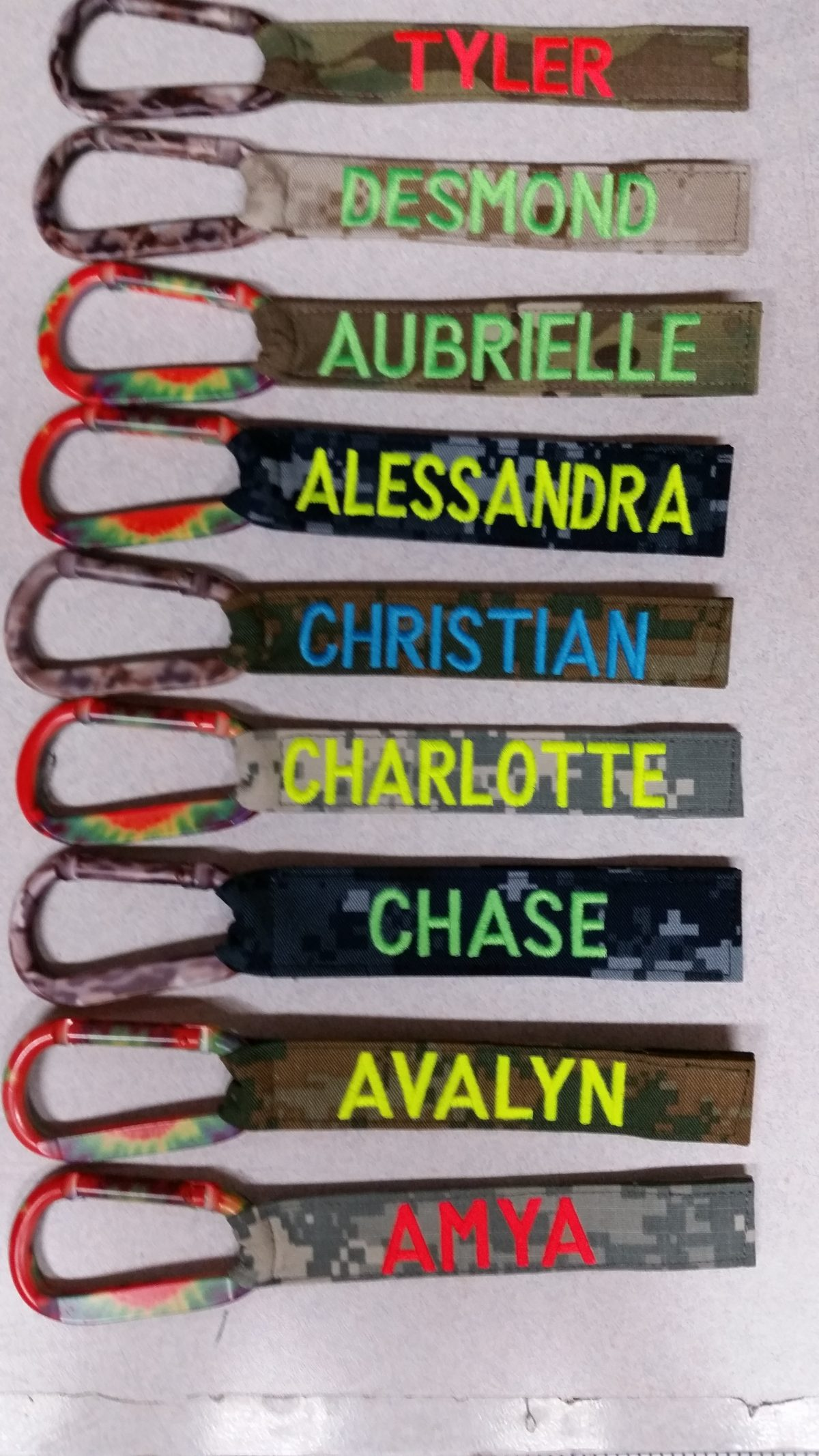 1 inch Luggage Tag With Carabiner Hooks color