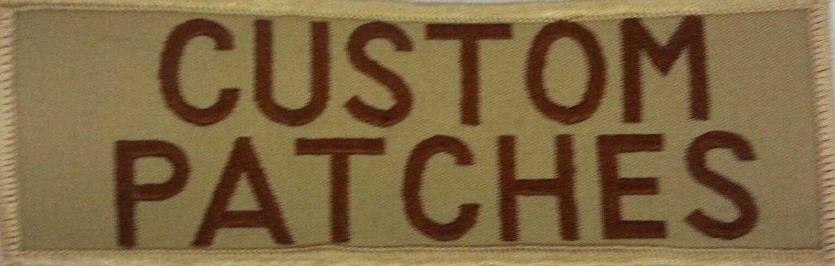 tan custom patch