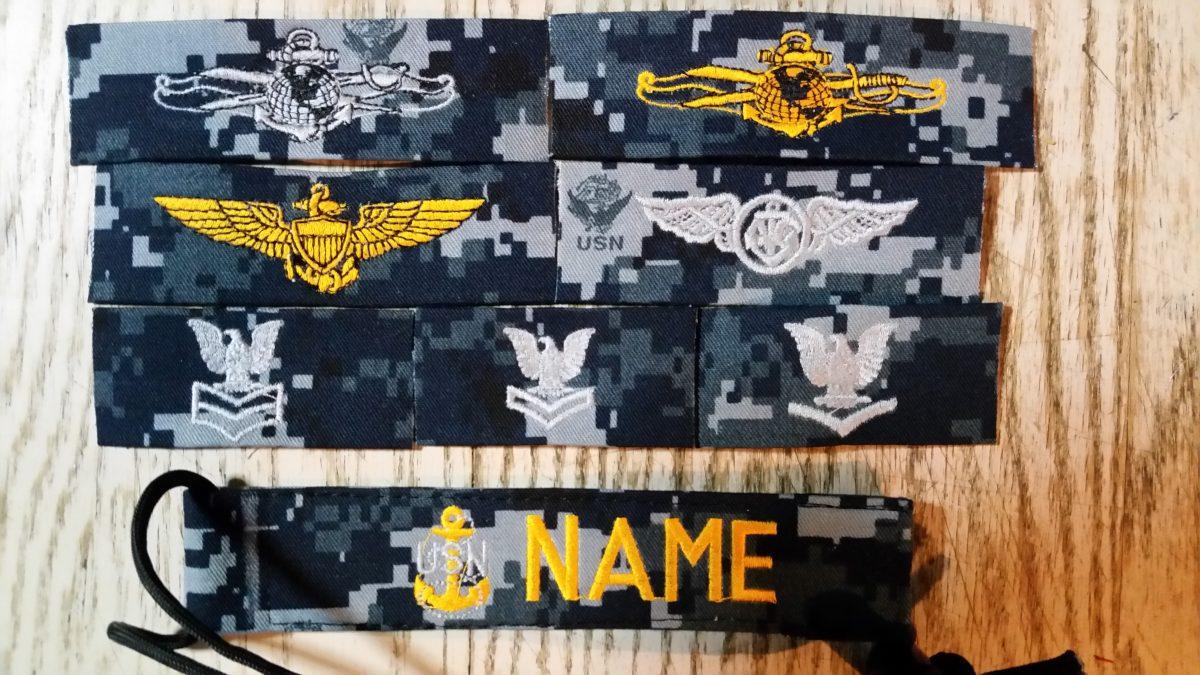 Tags and Pins Navy