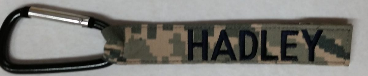 1 inch Luggage Tag With Carabiner Hook Camo
